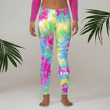 Tie Dye Print Leggings - Retro 90s Leggings - Cute Colorful Leggings - Leggings, Capris, Yoga Pants, or Shorts