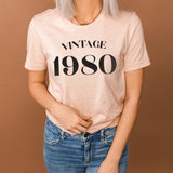 Vintage 1980 40th Birthday Shirt | Forty and Fabulous Shirt | Cute Forty Birthday Party Shirt