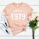 Vintage 1979 40th Birthday Shirt Cute Funny 40th Birthday Shirt Birthday Party Shirt