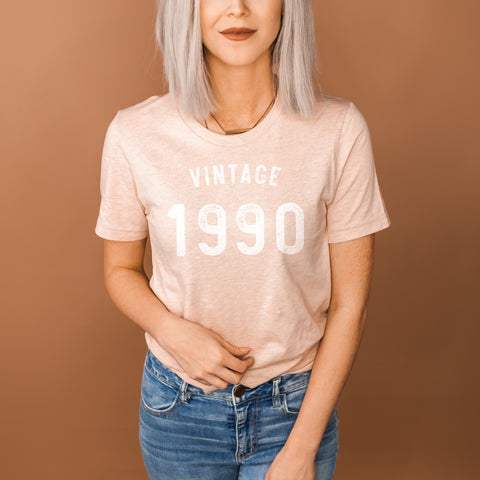 Vintage 1990 Shirt - 30th Birthday Shirt - Dirty Thirty Birthday Shirt