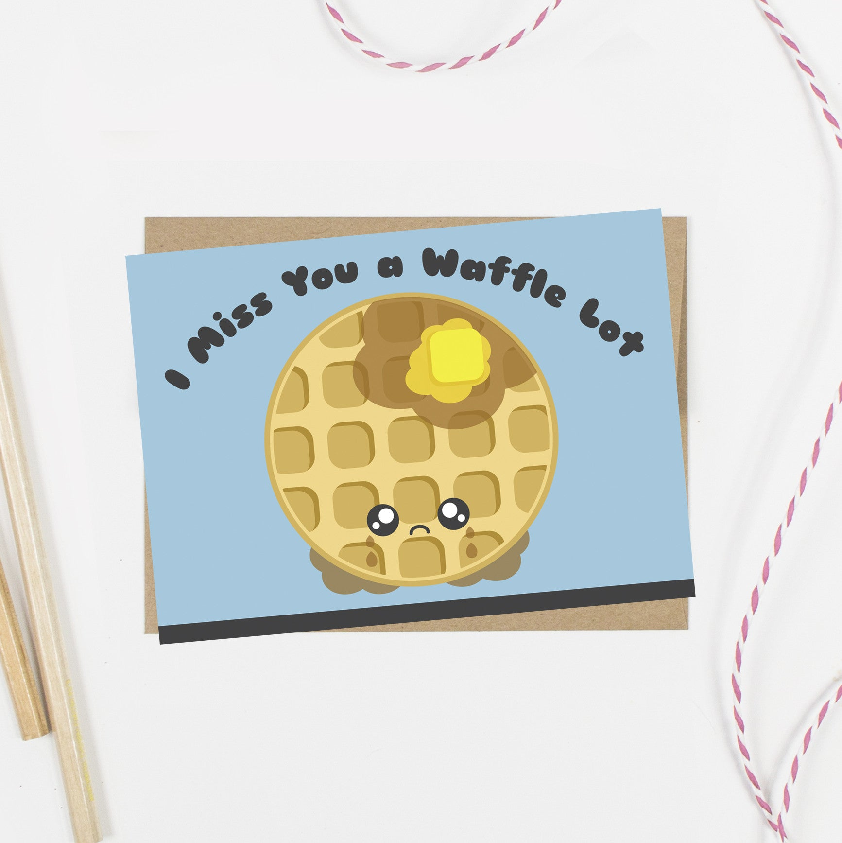 I Miss You a Waffle Lot Card