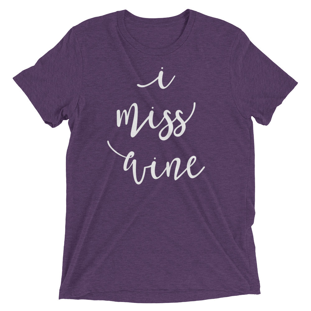 I Miss Wine Pregnancy Shirt Funny Pregnancy Shirt Pregnancy Announcement Shirt