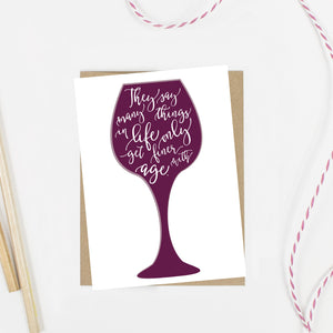 Wine Years Birthday Card