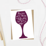 Wine Years Birthday Card - AlluringPrints