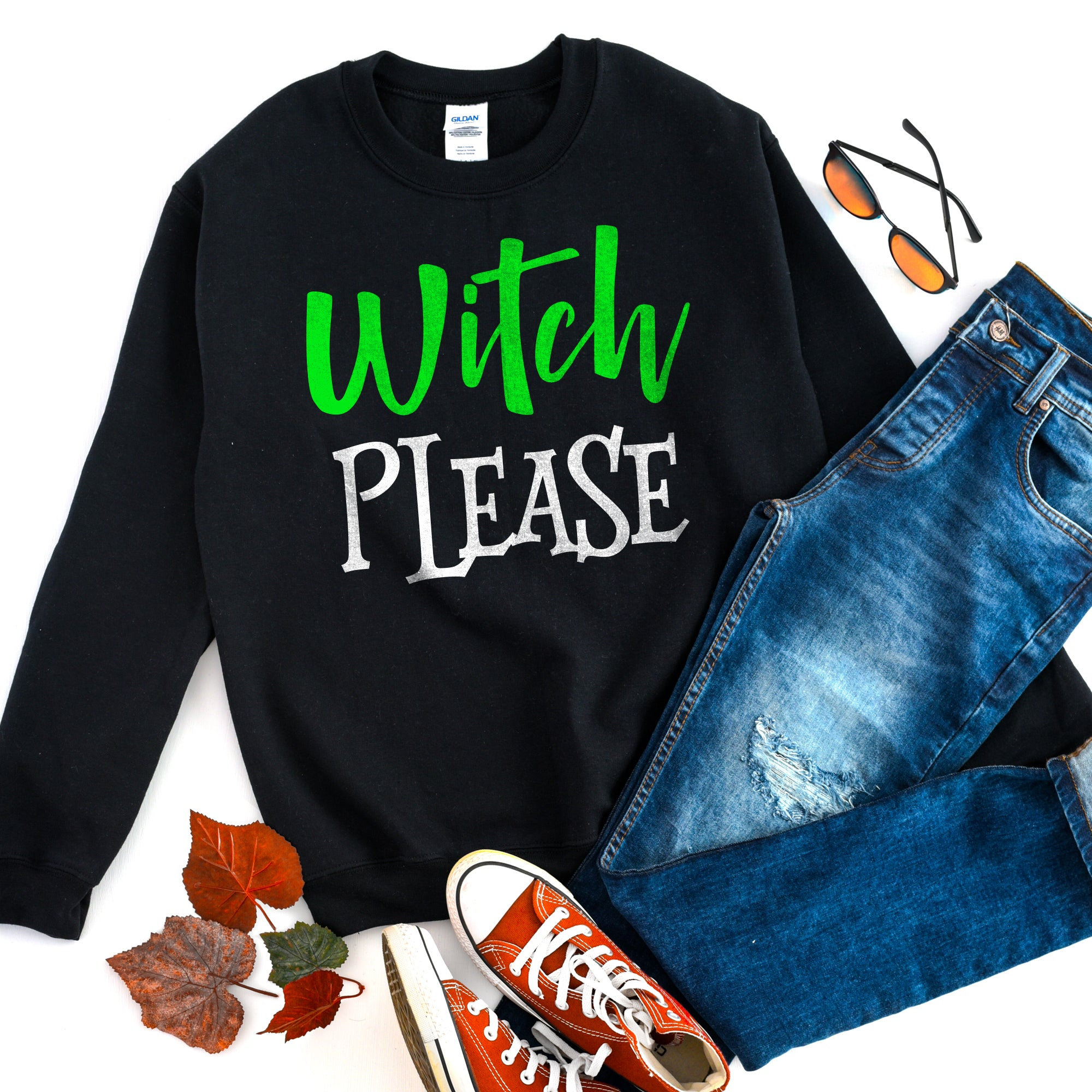 Witch Please Sweatshirt Witch Please Halloween Sweatshirt Cute Funny Witch Shirt