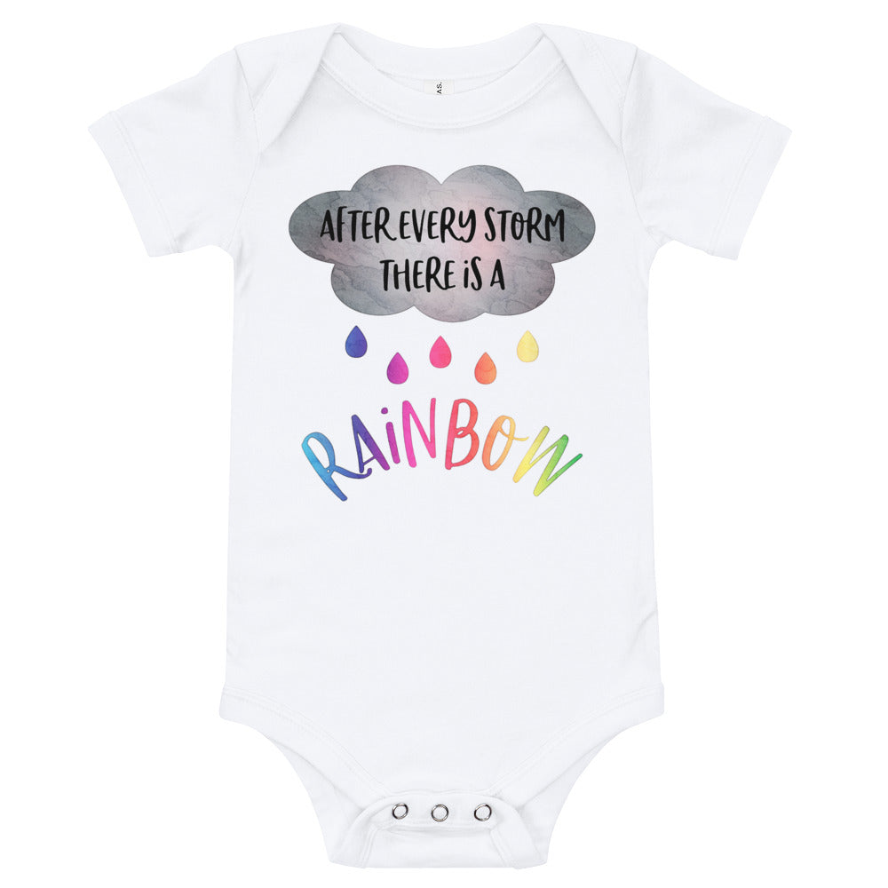 IVF Baby The Rainbow After The Storm Rainbow Bodysuit After Every Storm There Is A Rainbow Miracle Baby Rainbow Baby Bodysuit