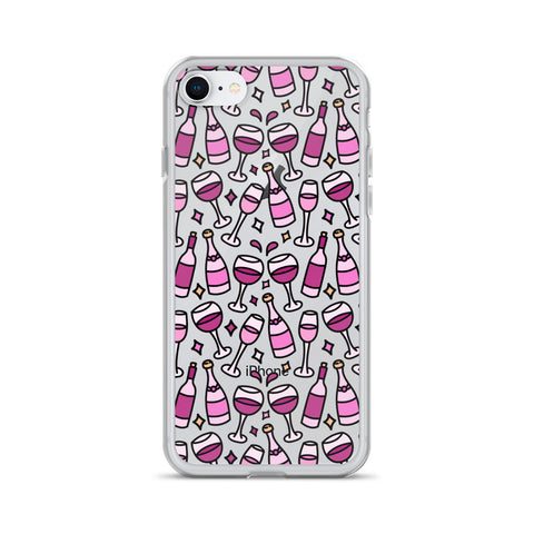 Red Wine & Pink Rosé iPhone Case