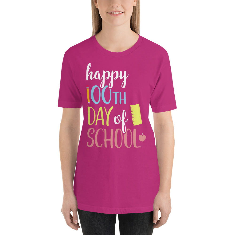 Happy 100th Day of School Teacher Shirt - AlluringPrints