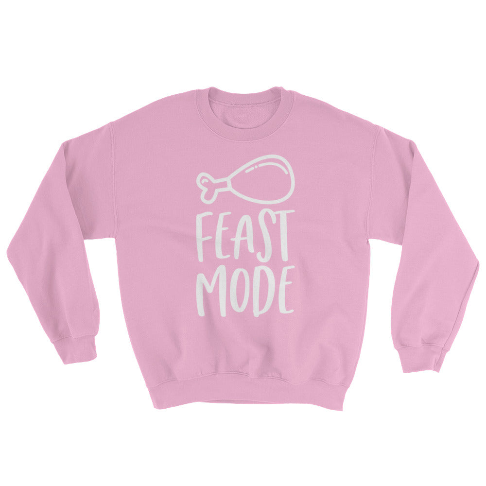 Feast Mode Sweatshirt Thanksgiving Shirt Cute Funny Thanksgiving Turkey Sweater