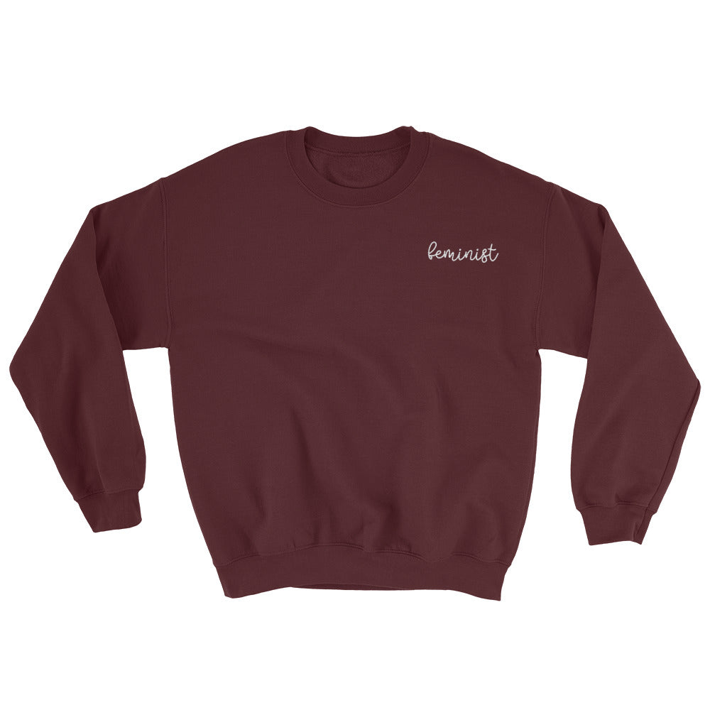 Feminist Embroidered Sweatshirt