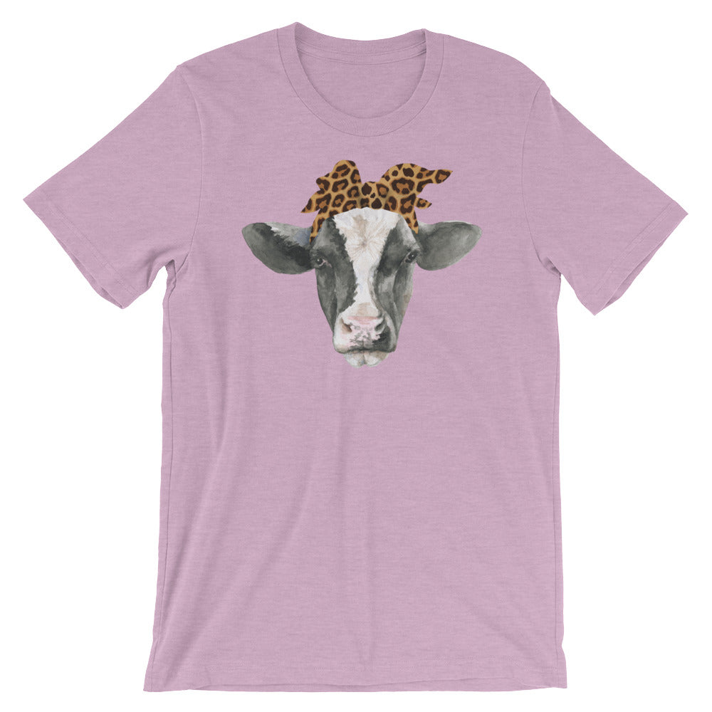 Cow with Leopard Bandana Shirt