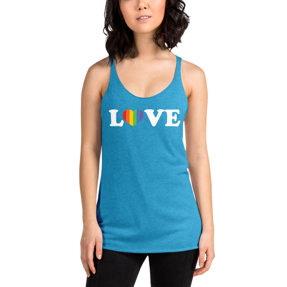 Love Rainbow Heart Pride Tank Top