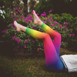 Rainbow Leggings Cute Rainbow Ombre Leggings LGBT Pride Rainbow Leggings
