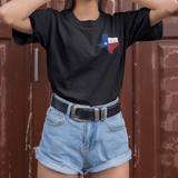Texas State Shaped Flag Shirt Cute Texas Pride Shirt for Women Texan Pride Shirt Texas Flag Shirt