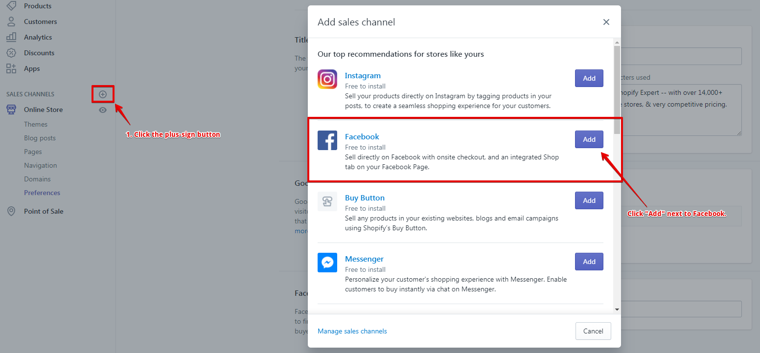 Adding Facebook Sales Channel - Shopify