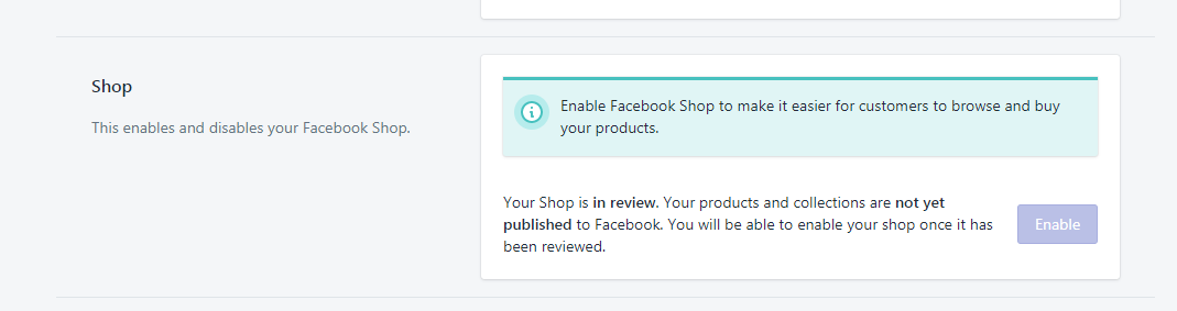Facebook Sales Channel - Shopify