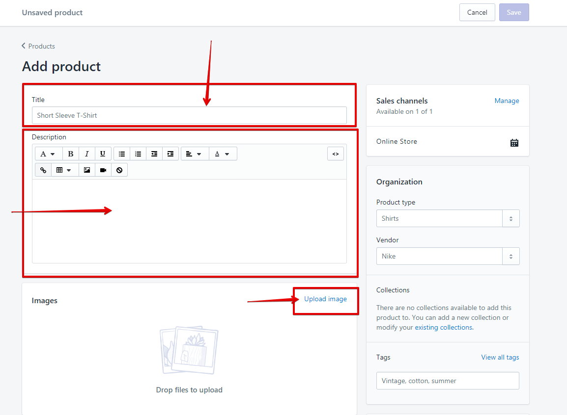 Add Product to Shopify - Step 2
