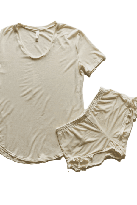 Ladies Shortie Set - Vanilla