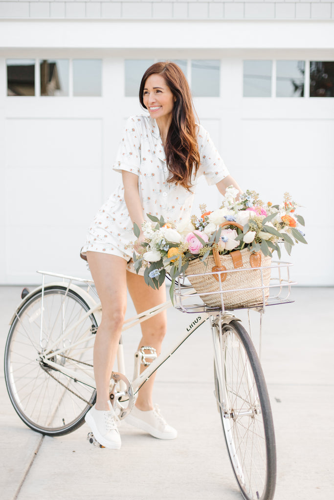 FL X B&B Ladies Shortie Set - Bicycles & Florals
