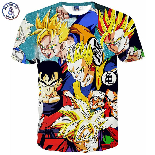 Dragon Ball Z 3D t shirt