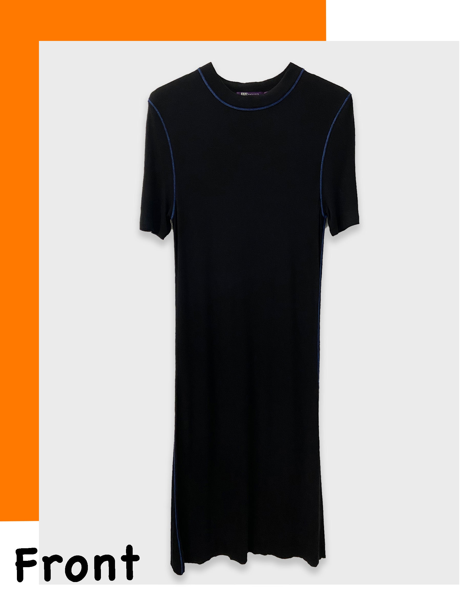 Eco-Friendly Breathable Lyocell Short-Sleeve Maternity Dress