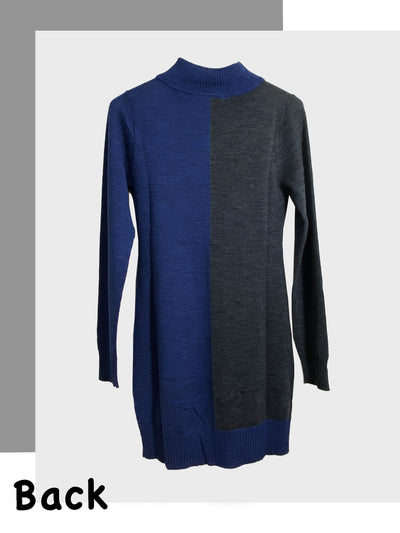 Round Neck Colorblock Maternity Tunic