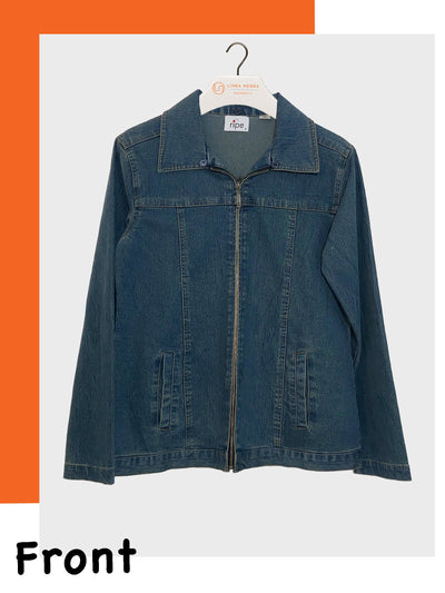 Stylish Maternity Wear Hong Kong Denim Jacket for Pregnant Bellies