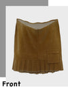 Stylish Maternity Wear Short Corduroy Skirt