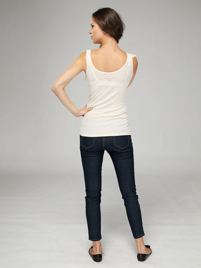 Maternity Tank with Lace Detail