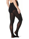 Opaque Tights with Supportive Pregnancy Belly Panel