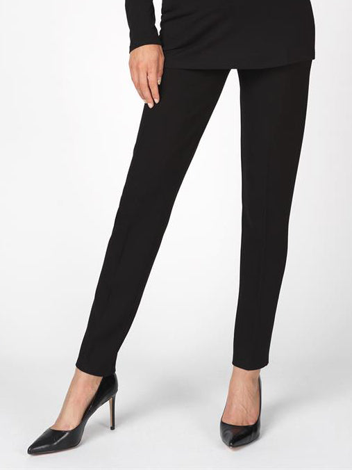 Fitted Maternity Work Pants with Breathable Belly Panel