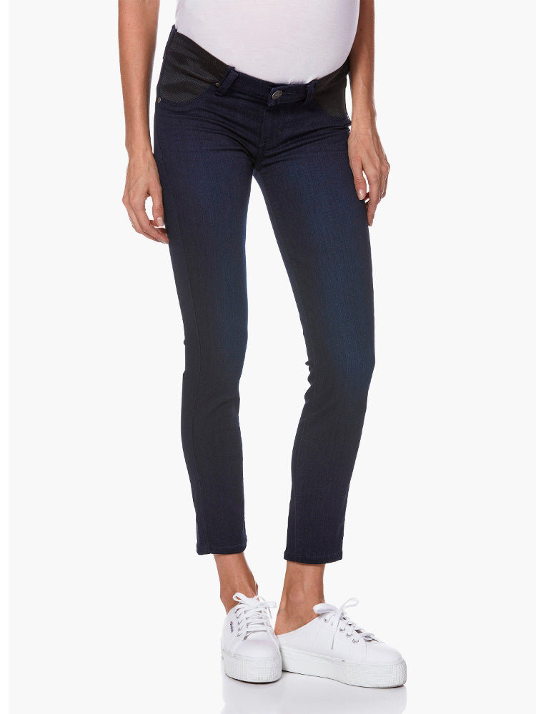 Paige Maternity Underbelly Ankle Length Skinny Jeans Lana Wash