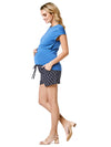 Shorts with Elasticised Waist for Growing Pregnancy Belly