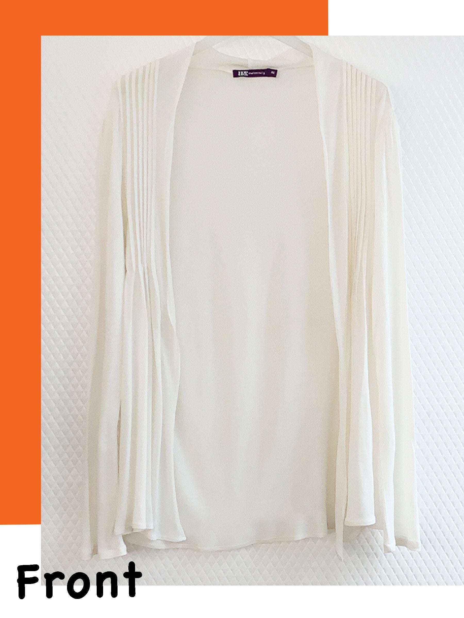 Breathable Eco-Friendly Short Pleated Cardigan