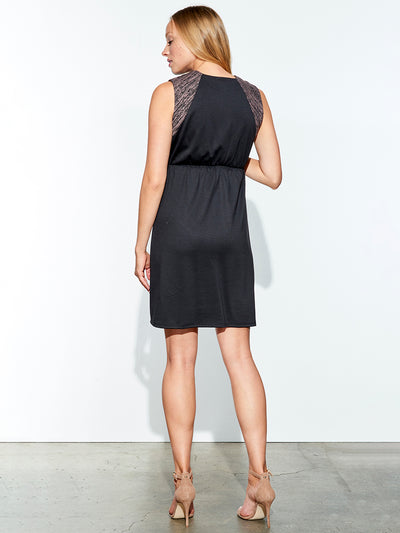 Front Zip Dress Accommodates Growing Pregnancy Belly