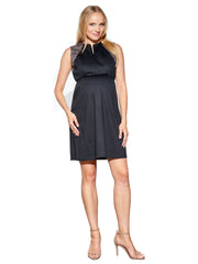 Front Zip Maternity Dress