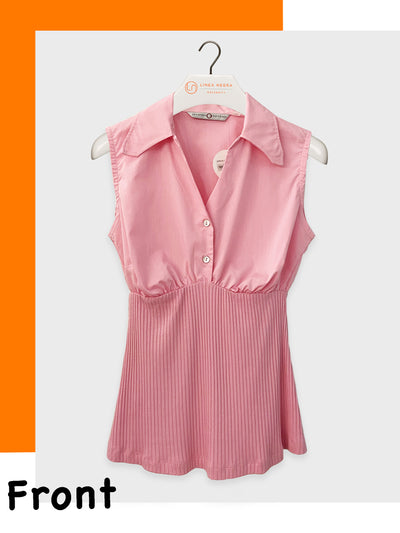 Maternity & Nursing-Friendly Dual Fabric Shirt