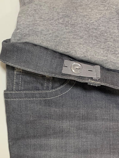 Skinny Grey Maternity Jeans with Belly Panel