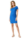 Textured Ribbed Maternity Dress with Back Zip