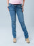 Underbelly Slim Straight Leg Maternity Jeans with Frayings