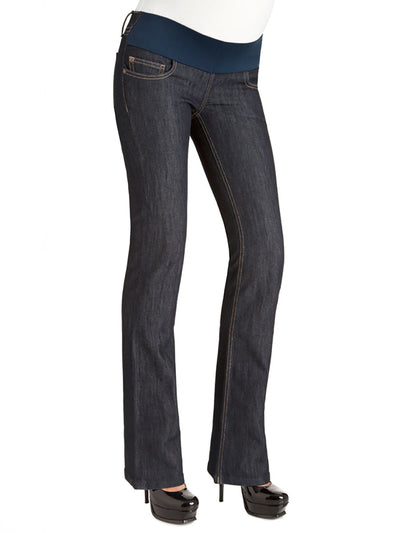 Bootcut Jeans with Low Waist Accommodates Pregnant Belly