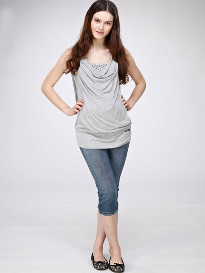 Bra-Friendly Sleeveless Maternity Tank