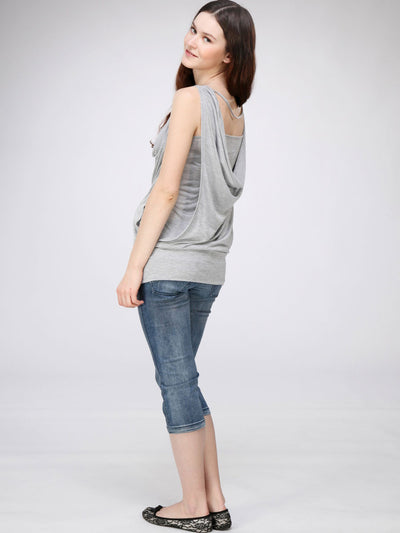 Drapey Back Maternity Top with Adjustable Halter Self-Ties