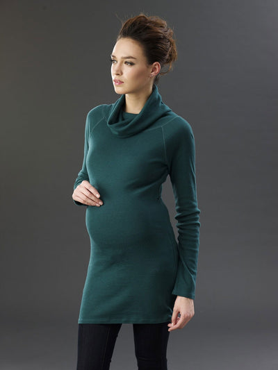 Loose Turtleneck Raglan Sleeve Maternity Top