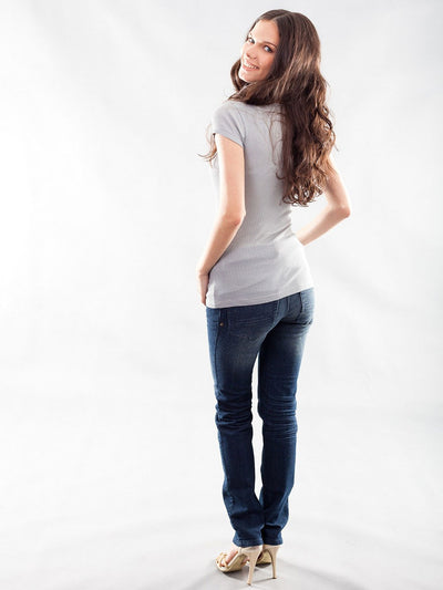 Stretchy Maternity Basic Classic Tee
