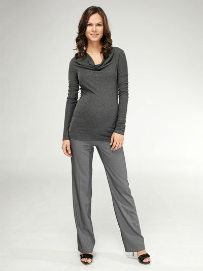 Moisture Wicking Breathable Cowl Neck Maternity Top