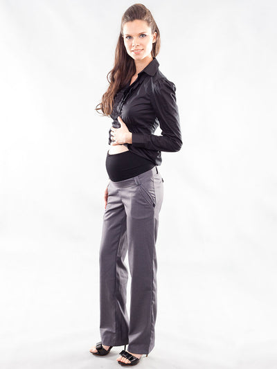 Maternity Work Pants with Belly Panel for Pregnant Belly