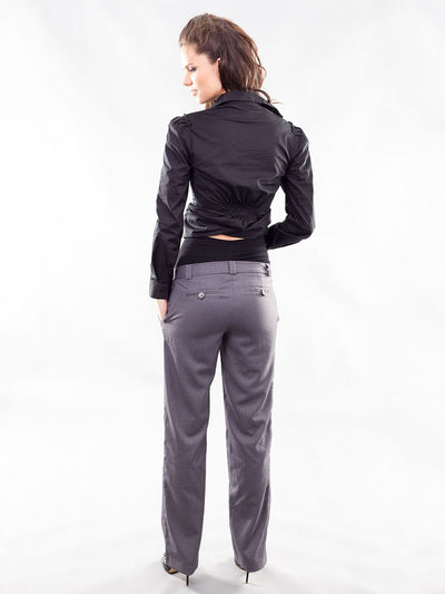 Straight Leg Work Pants Accommodates Pregnancy Belly