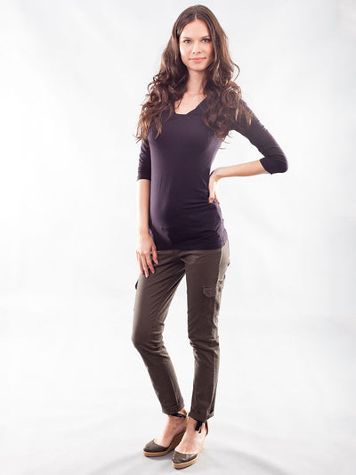 Underbelly 8-Pocket Skinny Cargo Maternity Pants