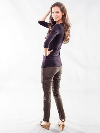 Underbelly Skinny Casual Pants Accommodates Pregnancy Belly